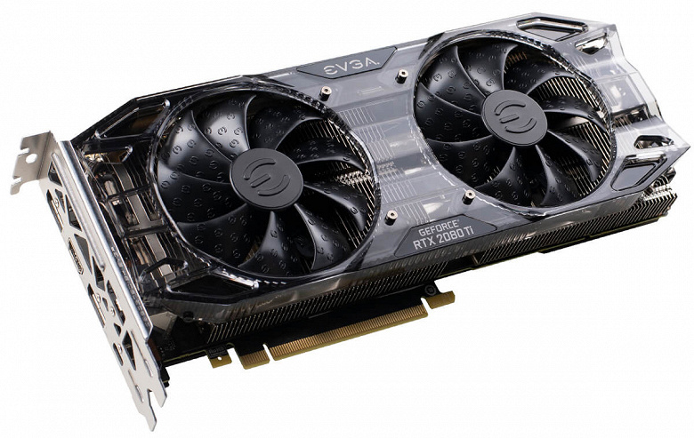 Представлена видеокарта EVGA GeForce RTX 2080 Ti Black Edition ценой $1000: частоты референсные, а кулер – нет