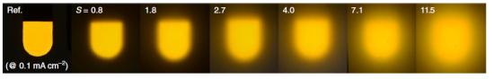 Южнокорейские исследователи добились светоотдачи 221 лм/Вт от светодиода OLED с рассеивающим слоем