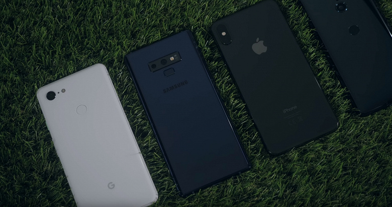Смартфон Google Pixel 3 XL в тесте автономности уступил Samsung Galaxy Note9 и Apple iPhone XS Max