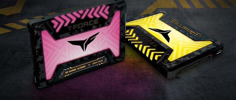 Накопители Team Delta S TUF Gaming RGB SSD и модули памяти Delta TUF Gaming RGB получили оформление бренда Asus TUF Gaming Alliance
