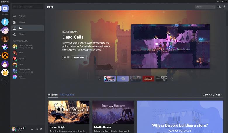 Цифровой магазин игр Discord Store попробует посоперничать со Steam