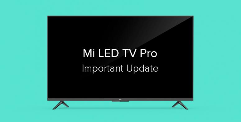 Xiaomi выпустила первое в истории обновление для своих телевизоров