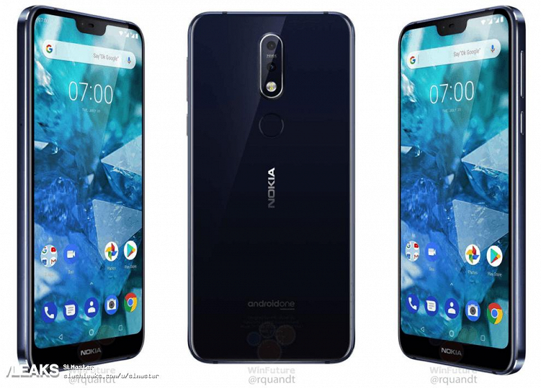 Слив информации по Nokia 7.1: официальные рендеры, характеристики и дата выхода