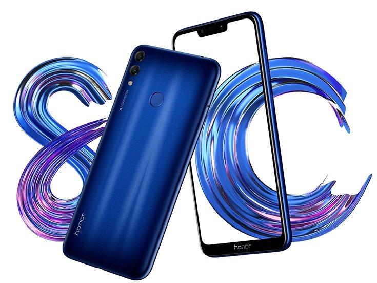 Huawei представила дешёвый смартфон Honor 8C с большим дисплеем и двойной камерой