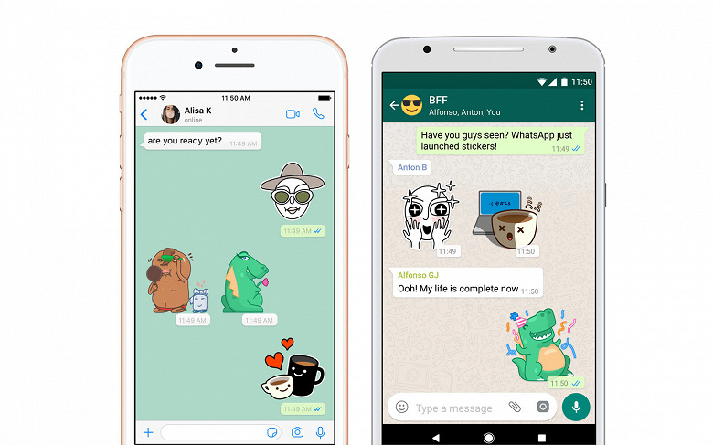 В мессенджере WhatsApp анонсирована долгожданная поддержка стикеров