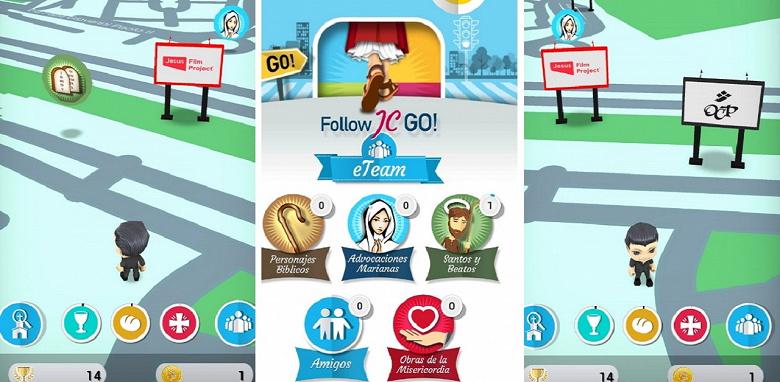 Follow JC Go — религиозная игра, где вместо покемонов нужно искать персонажей из Библии