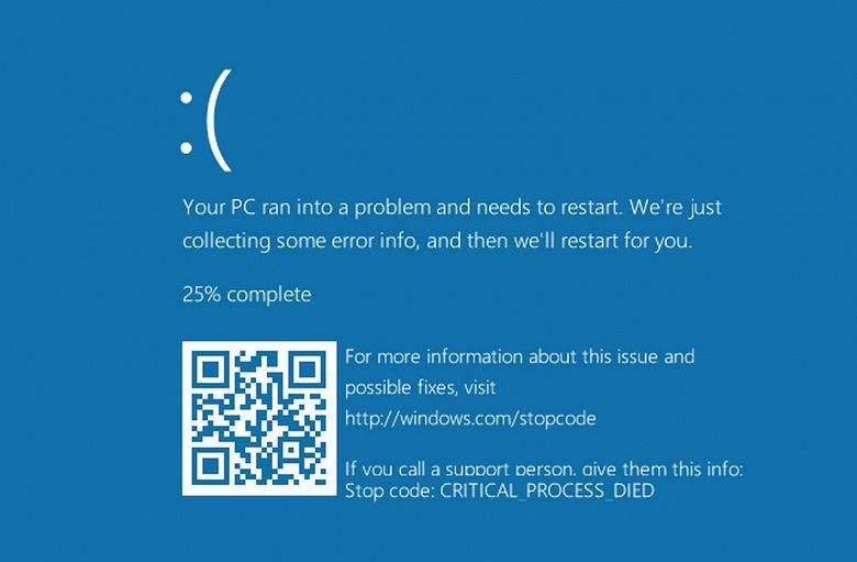 Очередное обновление Windows 10 вызывает «синий экран смерти»