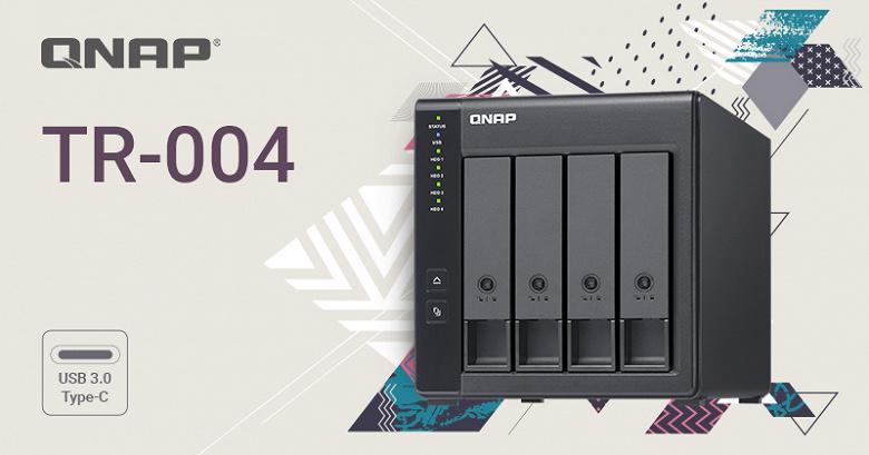 QNAP TR-004 позволяет расширить массив RAID на четыре накопителя