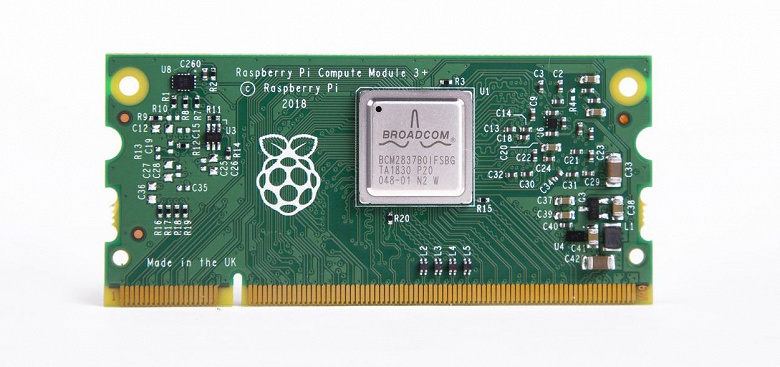 Одноплатный ПК Raspberry Pi Compute Module 3+ доступен в модификации с 32 ГБ флэш-памяти