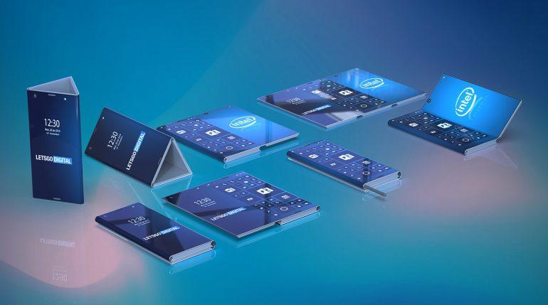 Смартфон Intel с гибким экраном складывается втрое и превращается в призму