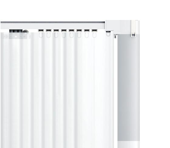 С умным приводом Xiaomi шторы открываются через приложение или голосом и не требуют проводов для питания