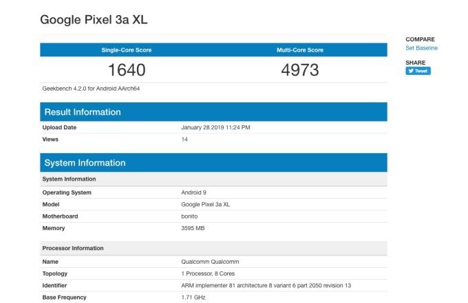 Дешевая версия флагманского смартфона Google Pixel 3 замечена под названием Google Pixel 3a XL