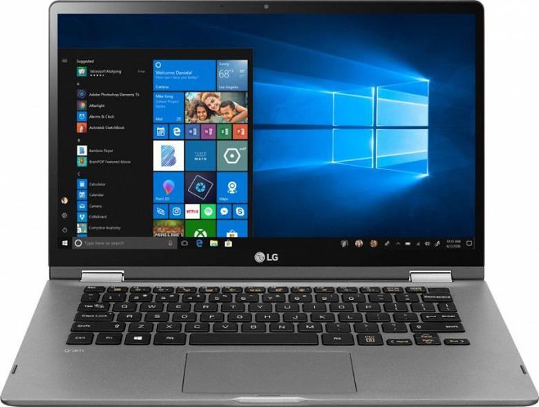 14-дюймовый ноутбук-трансформер LG Gram 2-in-1 работает без подзарядки до 21 часа