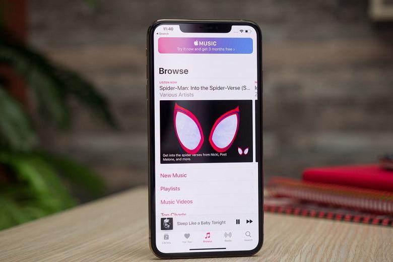 Прошедший квартал стал рекордным для сервиса Apple Music