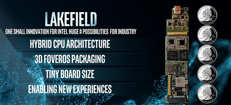 Представлен Intel Lakefield: первый в сегменте пятиядерный CPU с ядрами разной архитектуры и объёмной компоновкой Foveros