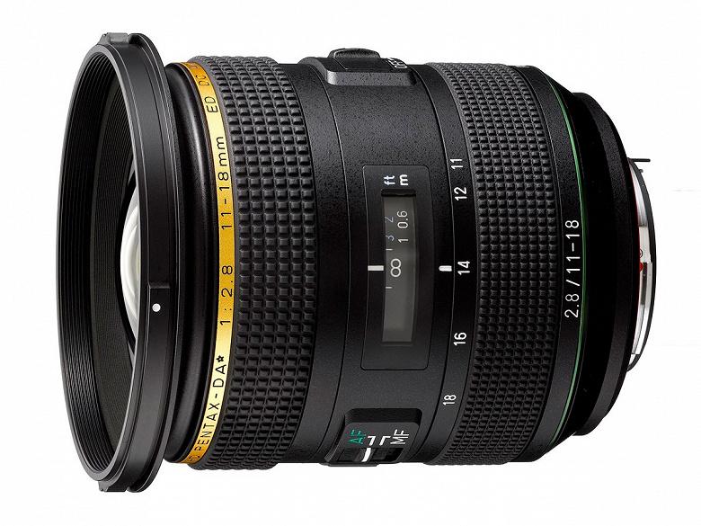 Представлен объектив HD Pentax-DA*11-18mmF2.8ED DC AW