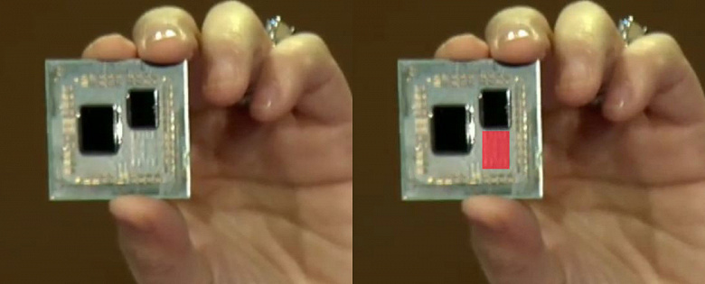 Корпус процессора AMD Ryzen третьего поколения в исполнении AM4 рассчитан на два кристалла CPU