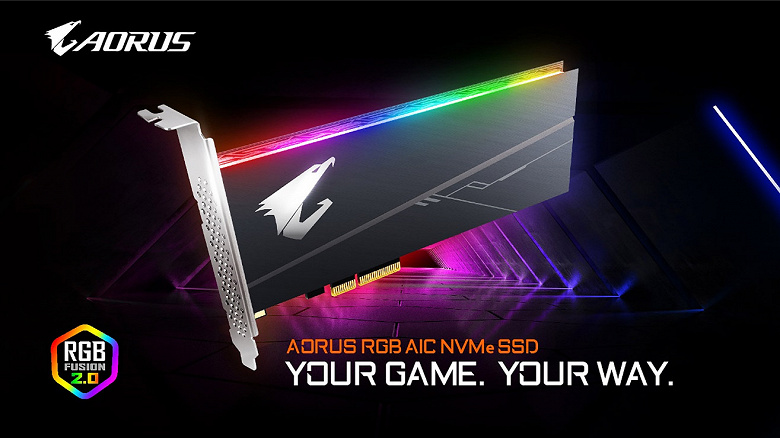 Серия Gigabyte Aorus RGB включает SSD двух форм-факторов