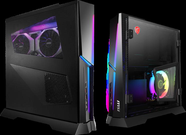 В игровых ПК MSI Trident X используются процессоры Intel Core К 9-го поколения и 3D-карты GeForce RTX