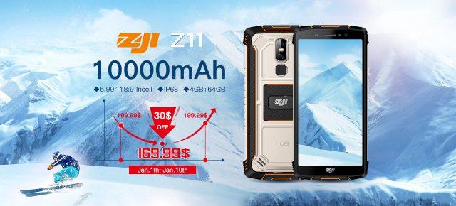 Неубиваемый смартфон Zoji Z1 получил аккумулятор емкостью 10 000 мА•ч, 4 ГБ ОЗУ и камеру Sony