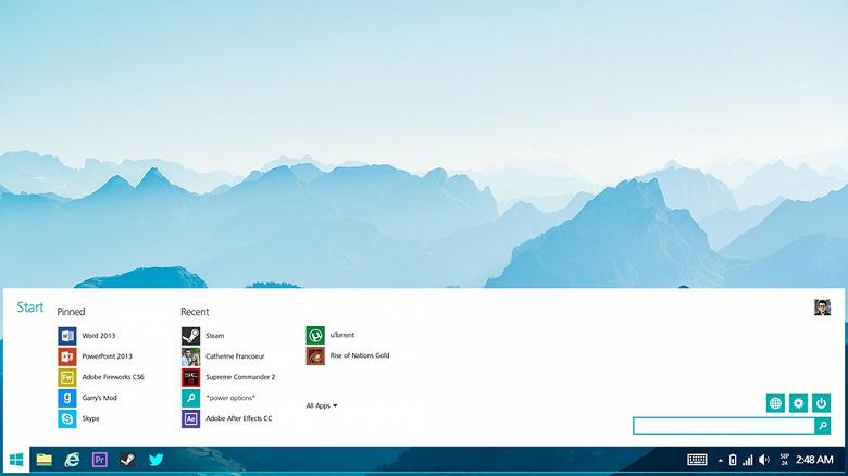 Из меню Пуск операционной системы Windows 10 исчезнут живые плитки