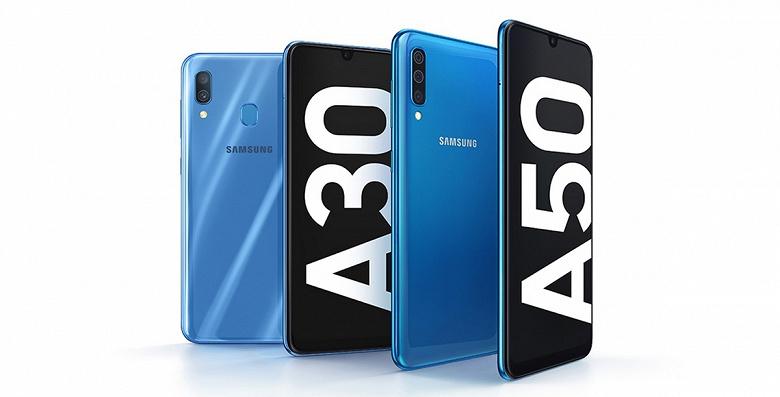 Середнячки по-новому: Samsung представила смартфоны Galaxy A30 и Galaxy A50, оснастив их ёмкими аккумуляторами