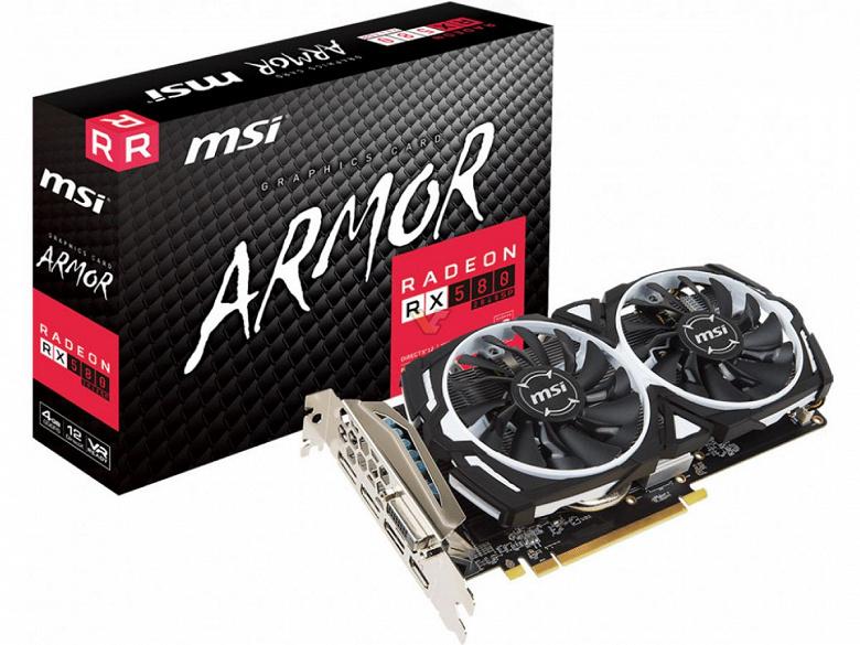 У MSI в ассортименте тоже появилась видеокарта Radeon RX 580, которая на самом деле является моделью RX 570