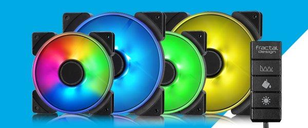 Fractal Design выпускает серию вентиляторов Prisma и контроллер подсветки Adjust R1