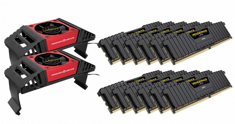 Наборы модулей памяти Corsair Vengeance LPX DDR4 для систем на процессорах Xeon W-3175X включают по 12 модулей