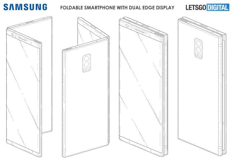Samsung делает смартфон с двумя негнущимися экранами, который при этом складывается вдвое