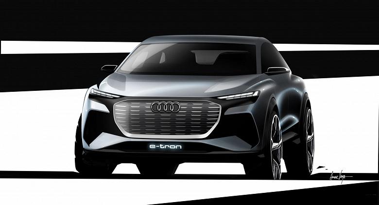 Галерея дня: концептуальный электромобиль Audi Q4 e-tron