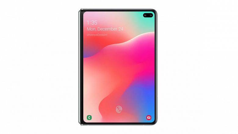 Через день после анонса. Складной смартфон Samsung Galaxy Fold с гибким экраном 2020 года выпуска