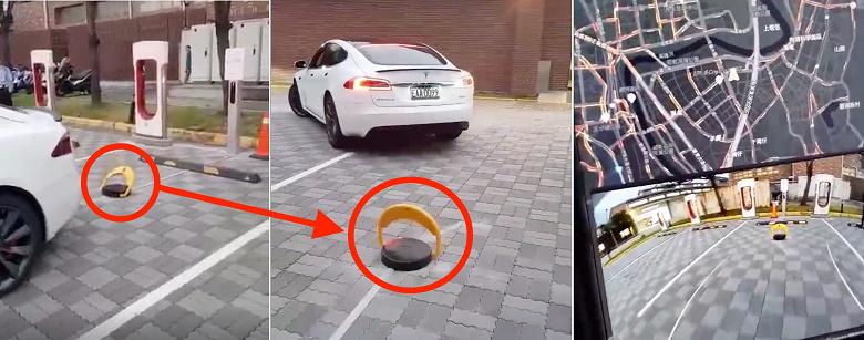 Tesla пытается бороться с пикапами на зарядных станциях Supercharger посредством специальных блокираторов
