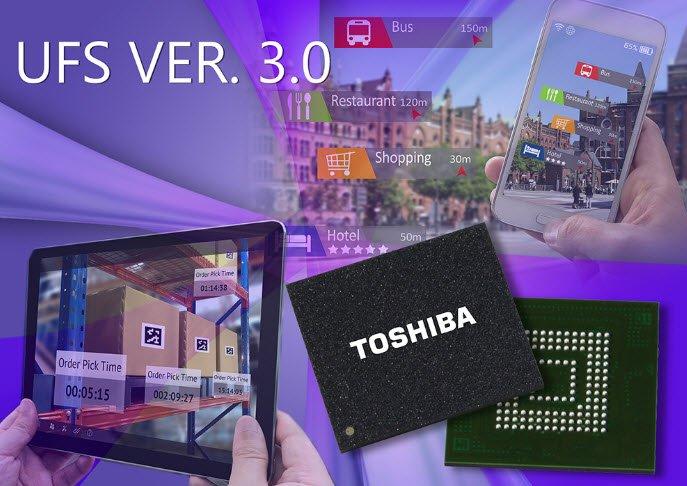 Toshiba представила флэш-память стандарта UFS 3.0