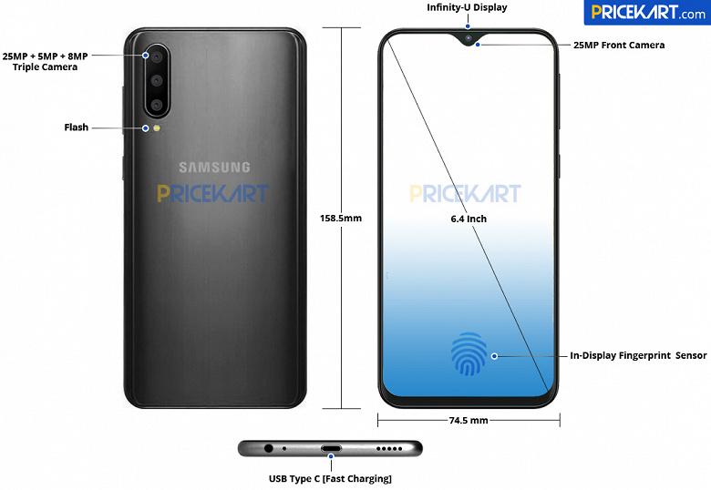 Атака клонов: смартфон Samsung Galaxy A50 будет похож на бюджетные Galaxy M