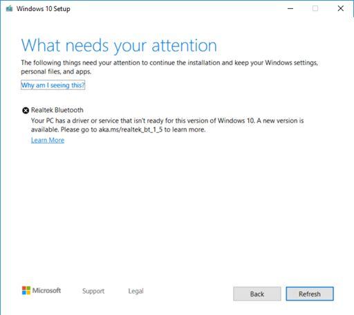 Почему Microsoft недаёт обновить Windows 10