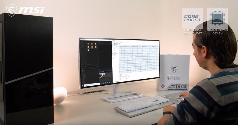Количество потоков едва умещается на экране монитора. MSI засветила 64-ядерный CPU AMD Threadripper 3990X