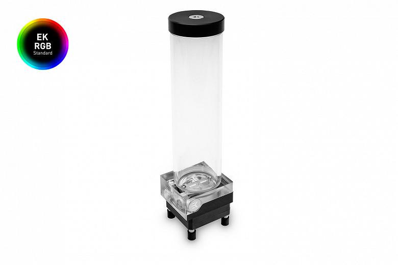 Резервуар с помпой EK-XRES 250 SPC PWM Classic RGB – Plexi украшен подсветкой и оценен в 100 евро