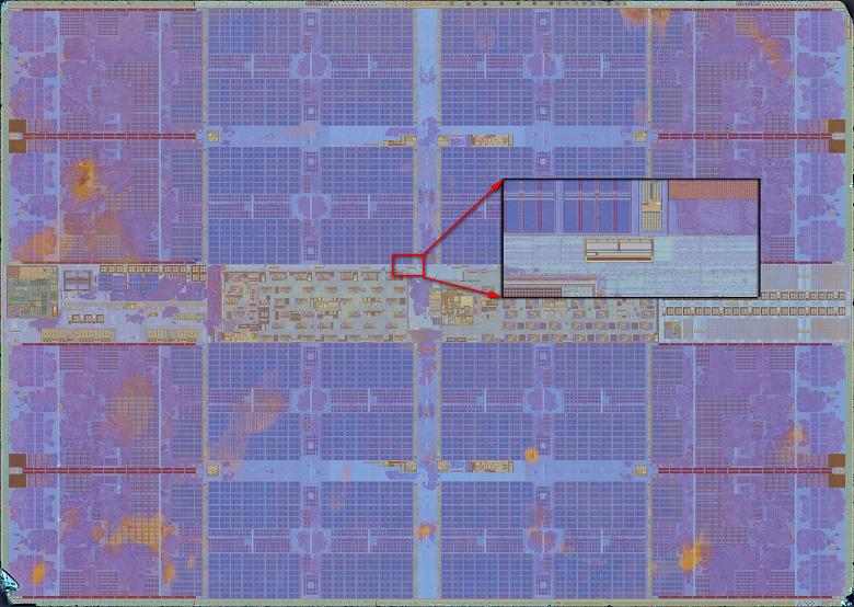 Невероятно детализированное фото процессорного кристалла AMD Zen 2