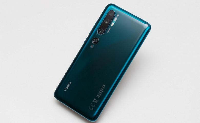 Xiaomi Mi Note 10 уже подешевел