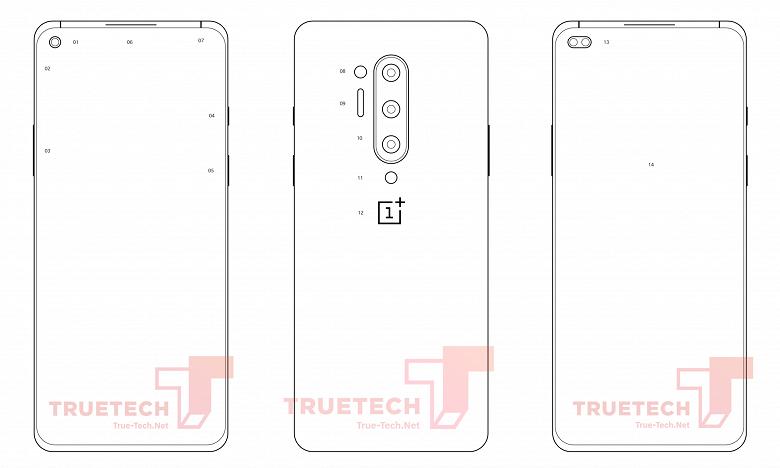Чертежи OnePlus 8 Pro демонстрируют две версии смартфона