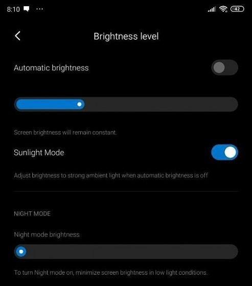 В MIUI 11 появился новый режим — «Солнечное сияние»