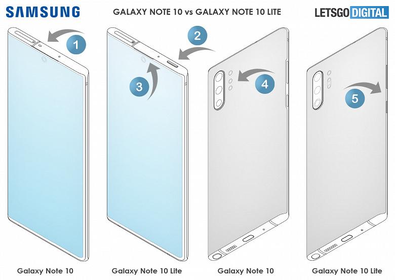 Чем дешёвый Galaxy Note10 Lite отличается от дорогого Galaxy Note10 на основе материалов Samsung