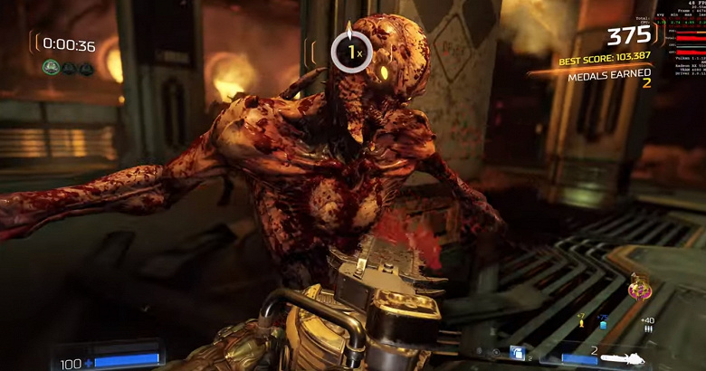 На что способна бюджетная видеокарта Radeon RX 5500 в игре Doom в 4K