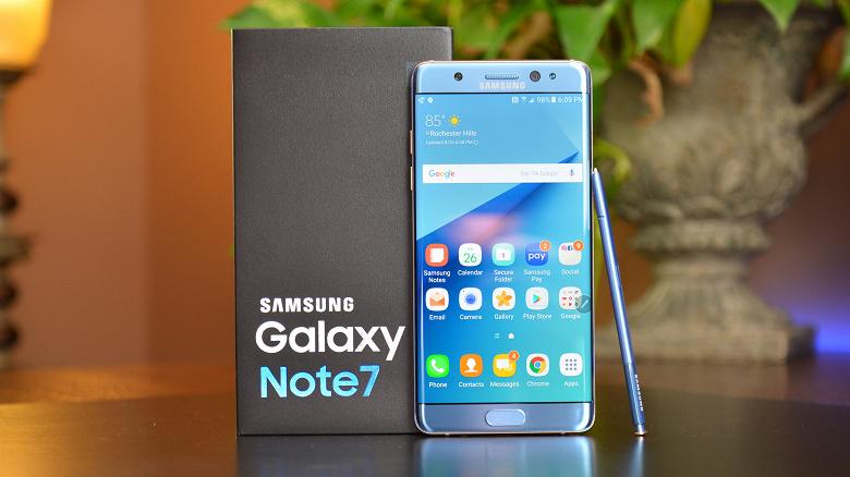 Взорвавшийся Samsung Galaxy Note7 снова позвал Samsung в суд
