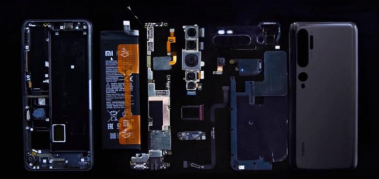 Разборка показала: у 108-мегапиксельного Xiaomi CC9 Pro сверхкомпактная материнская плата