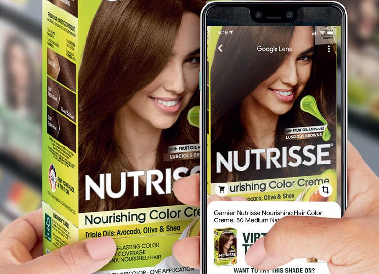Google Lens позволяет «примерить» краску для волос