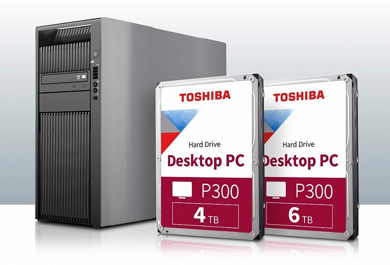 Объем жестких дисков Toshiba P300 увеличен до 6 ТБ