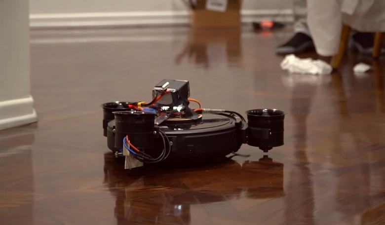 Создан летающий робот-пылесос