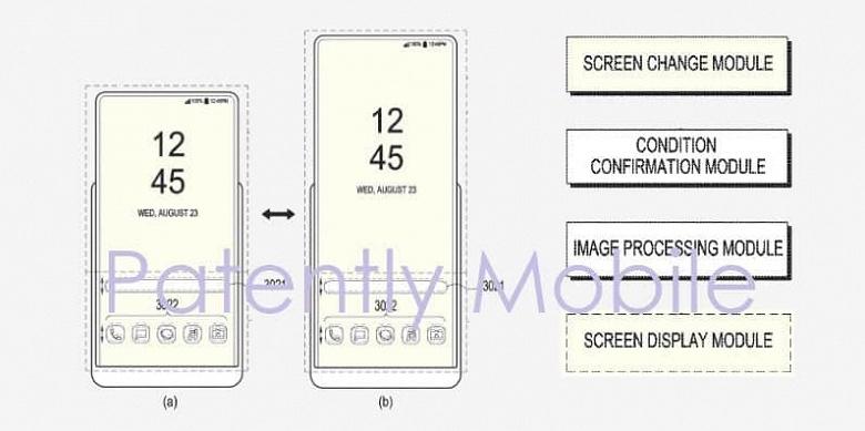 Слайдер Samsung с растягиваемым дисплеем